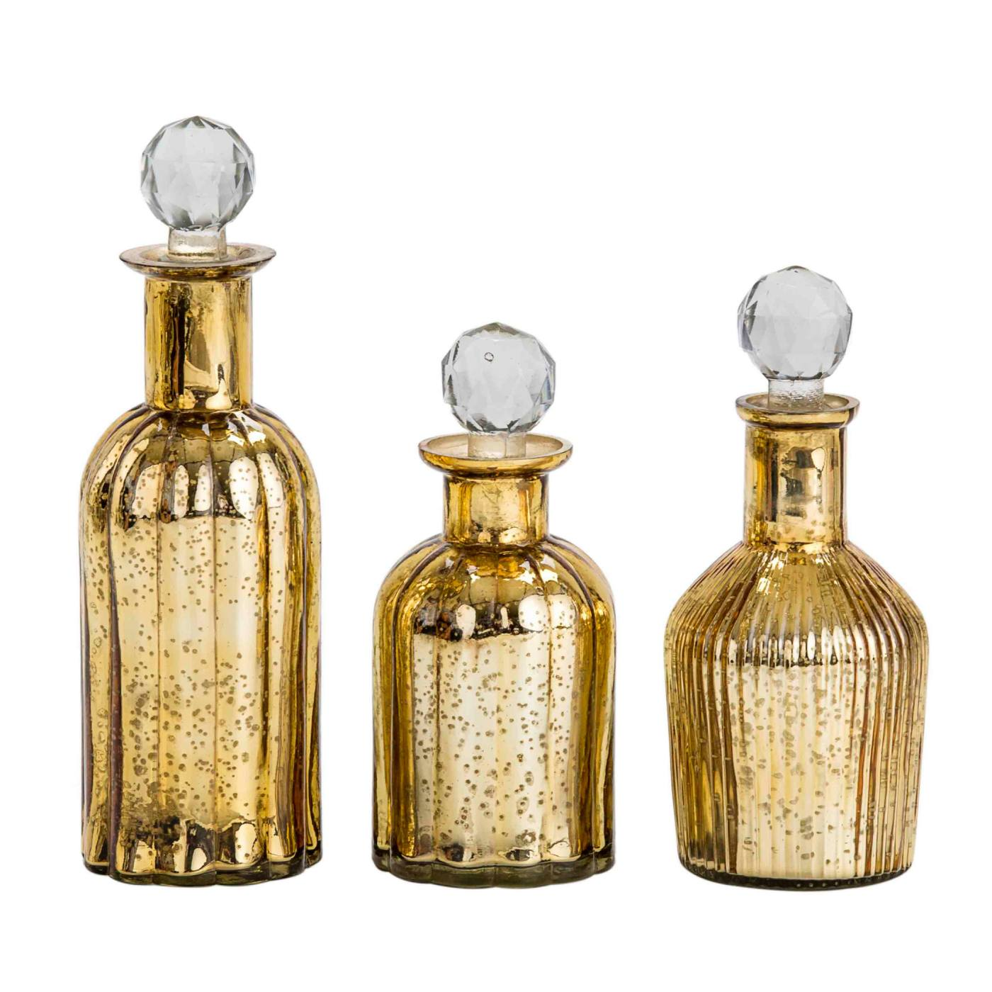 Glass decorative bottles