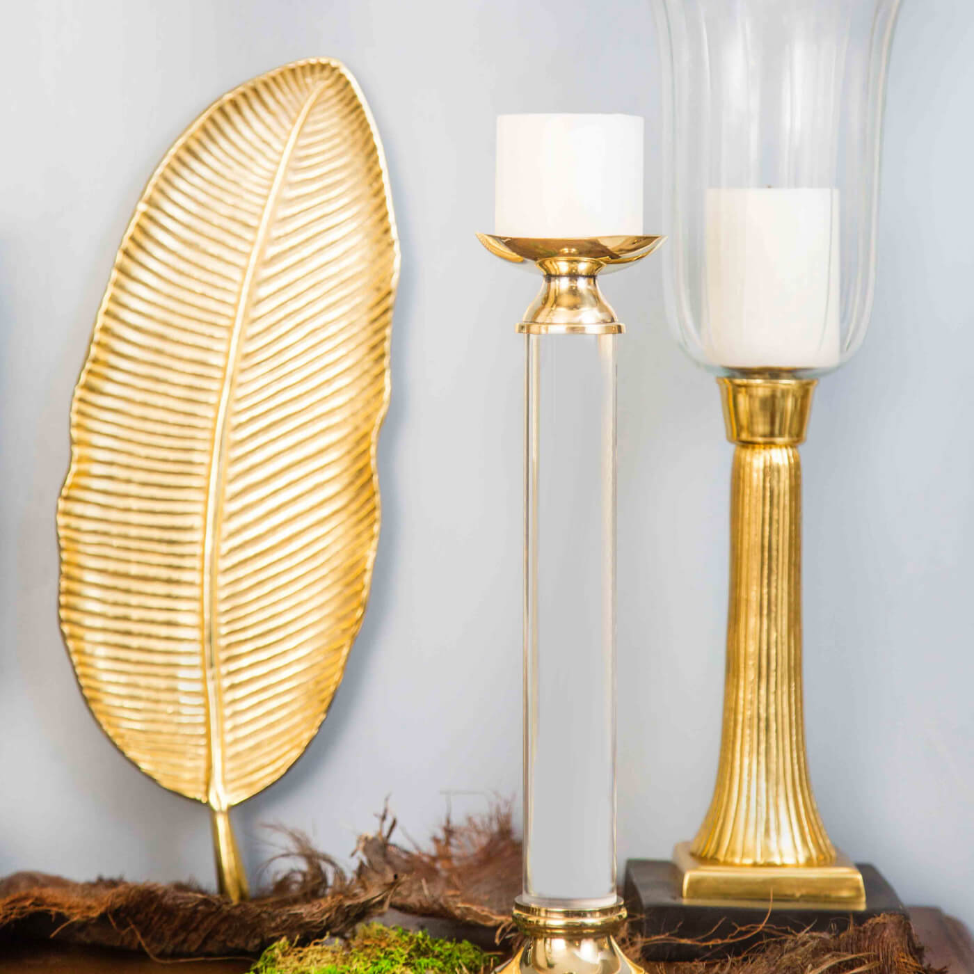 Leaf Platter Gold