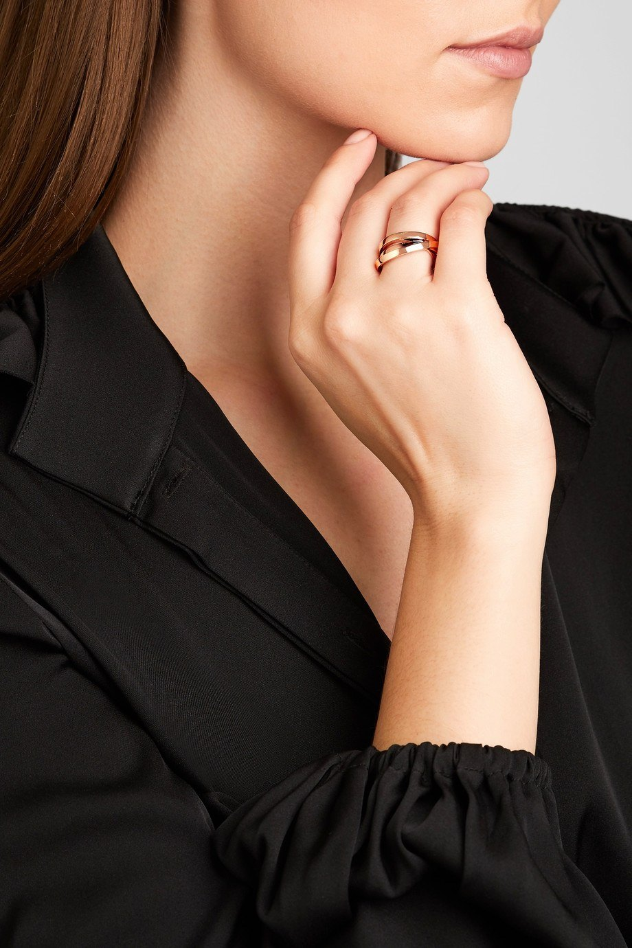 Technical Berbere 18-karat rose gold ring (6)