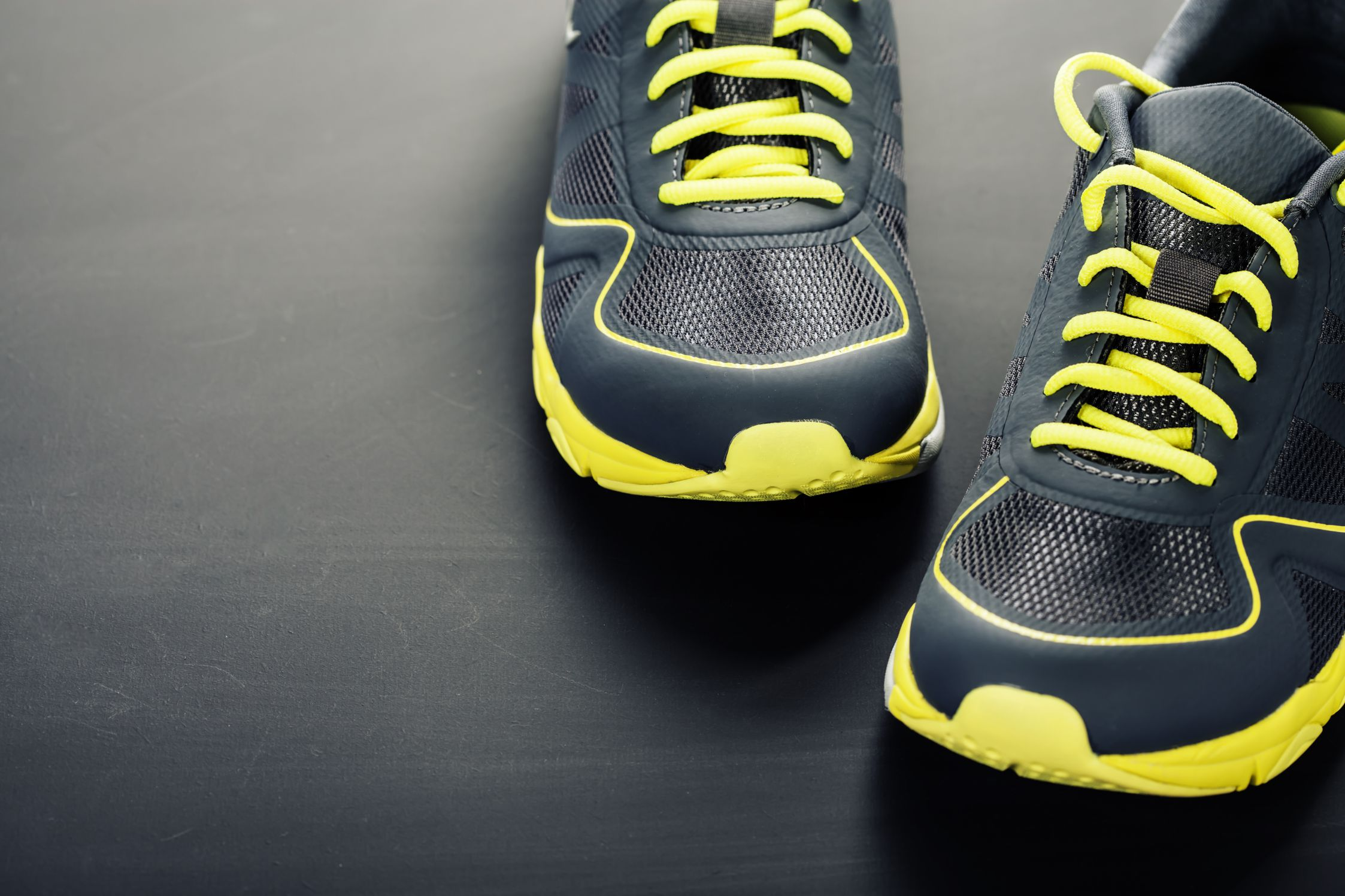 Sport shoes on grey background
