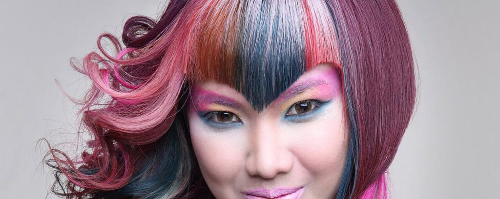 Winterish version of rainbow hair?